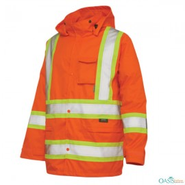 fancy orange neon glow jacket manufacturer