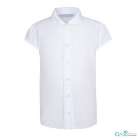 Classic White School Blouse Manufacturer usa